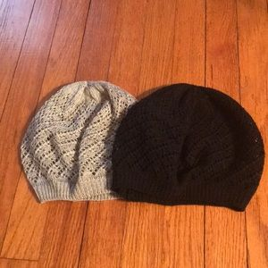 Set of 2 Knitted/Crocheted Berets